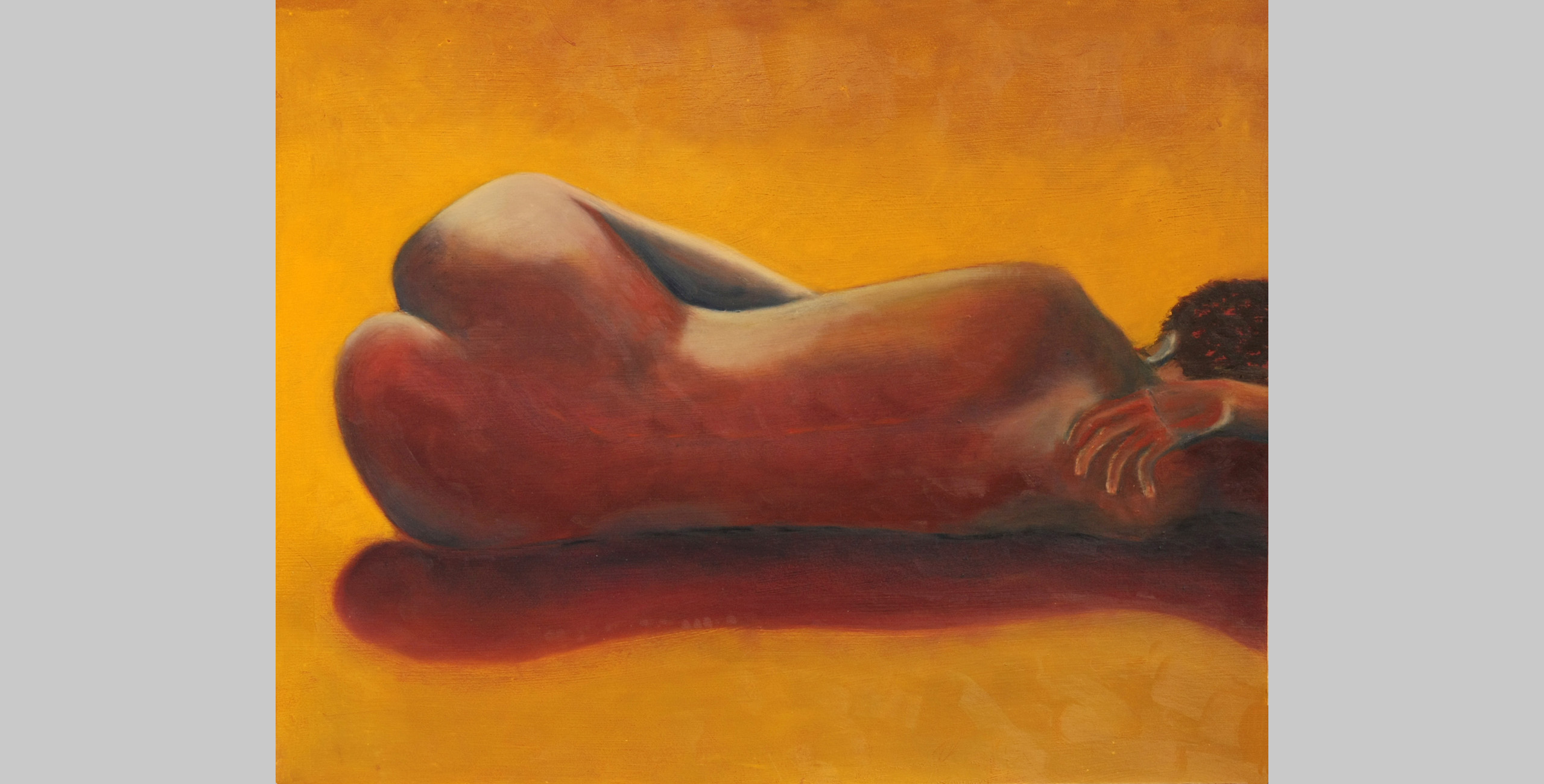 Golden Nude, 2009, oil bar on mat board, 16 x 20 in.