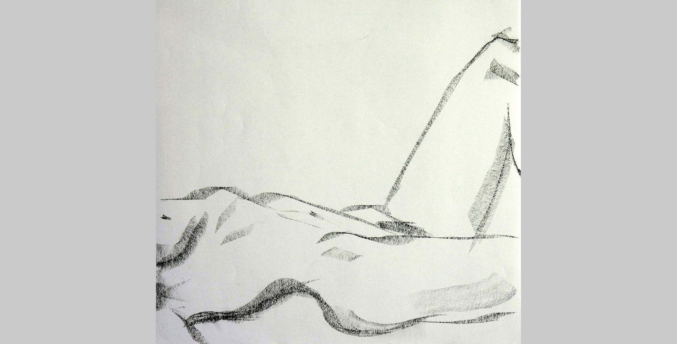 Arching Torso, 2011, charcoal on paper