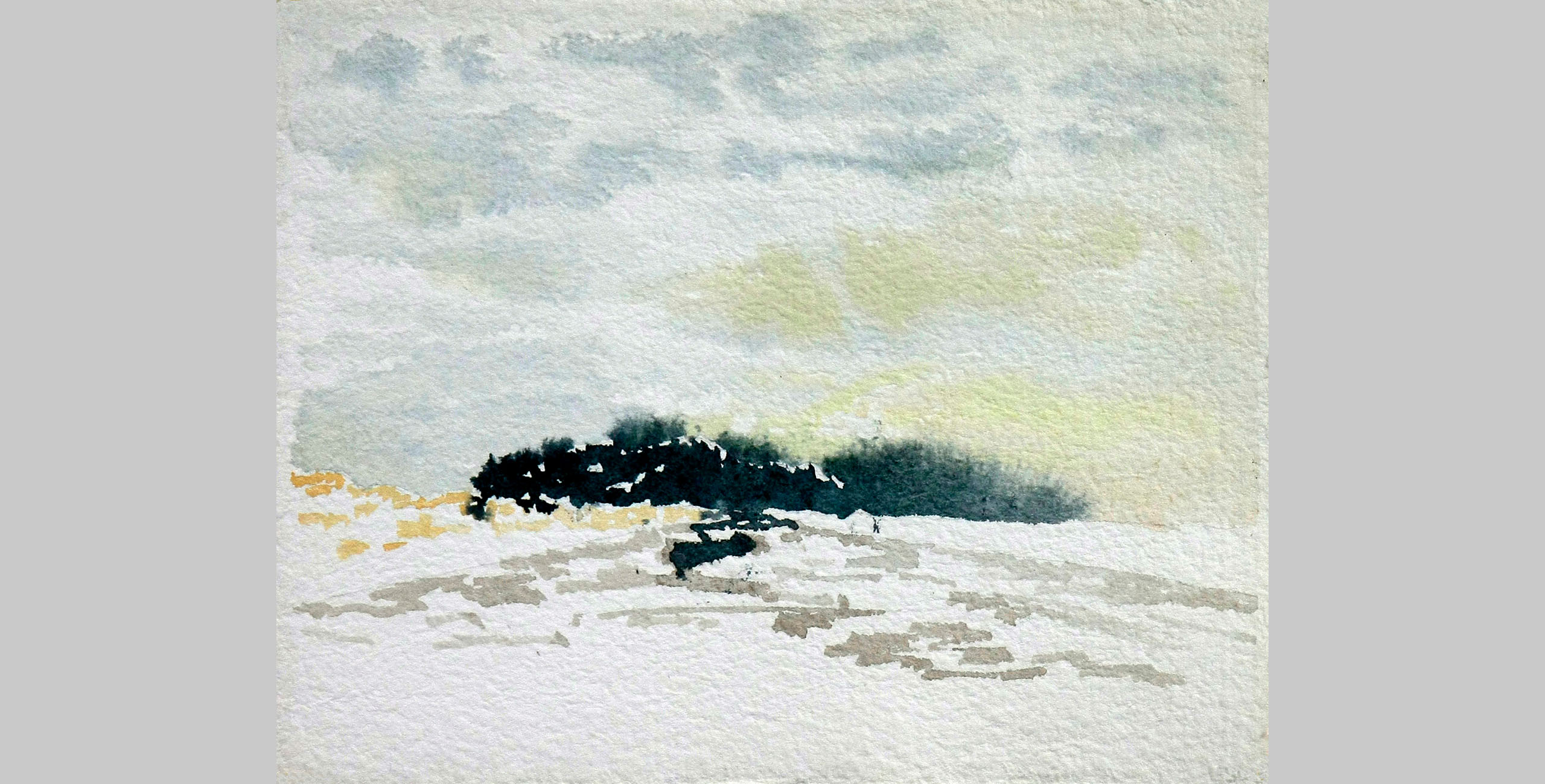 Island, 2011, watercolor, 9 x 12 in.