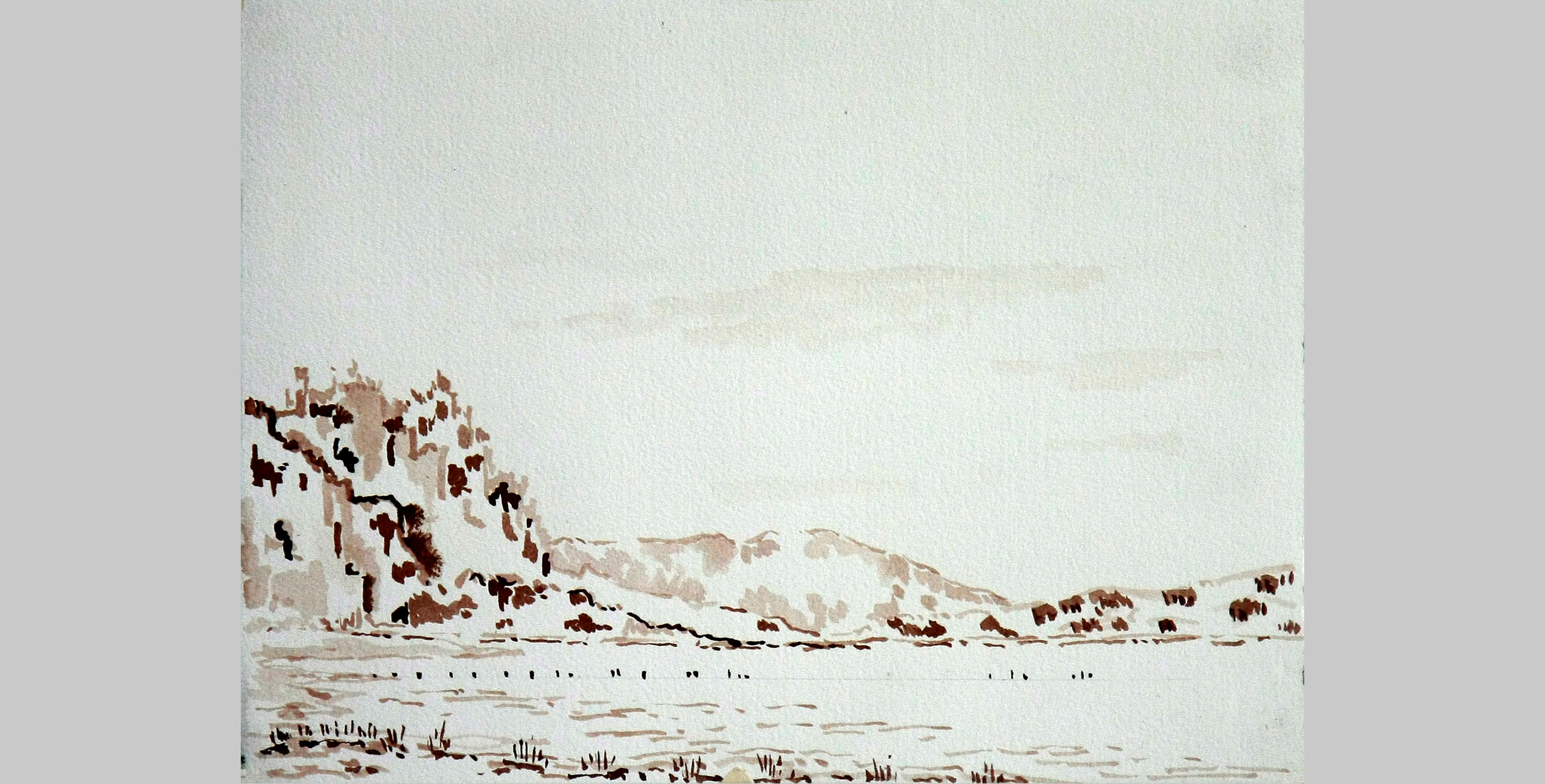 Landscape 2, 2011, pen and ink on paper