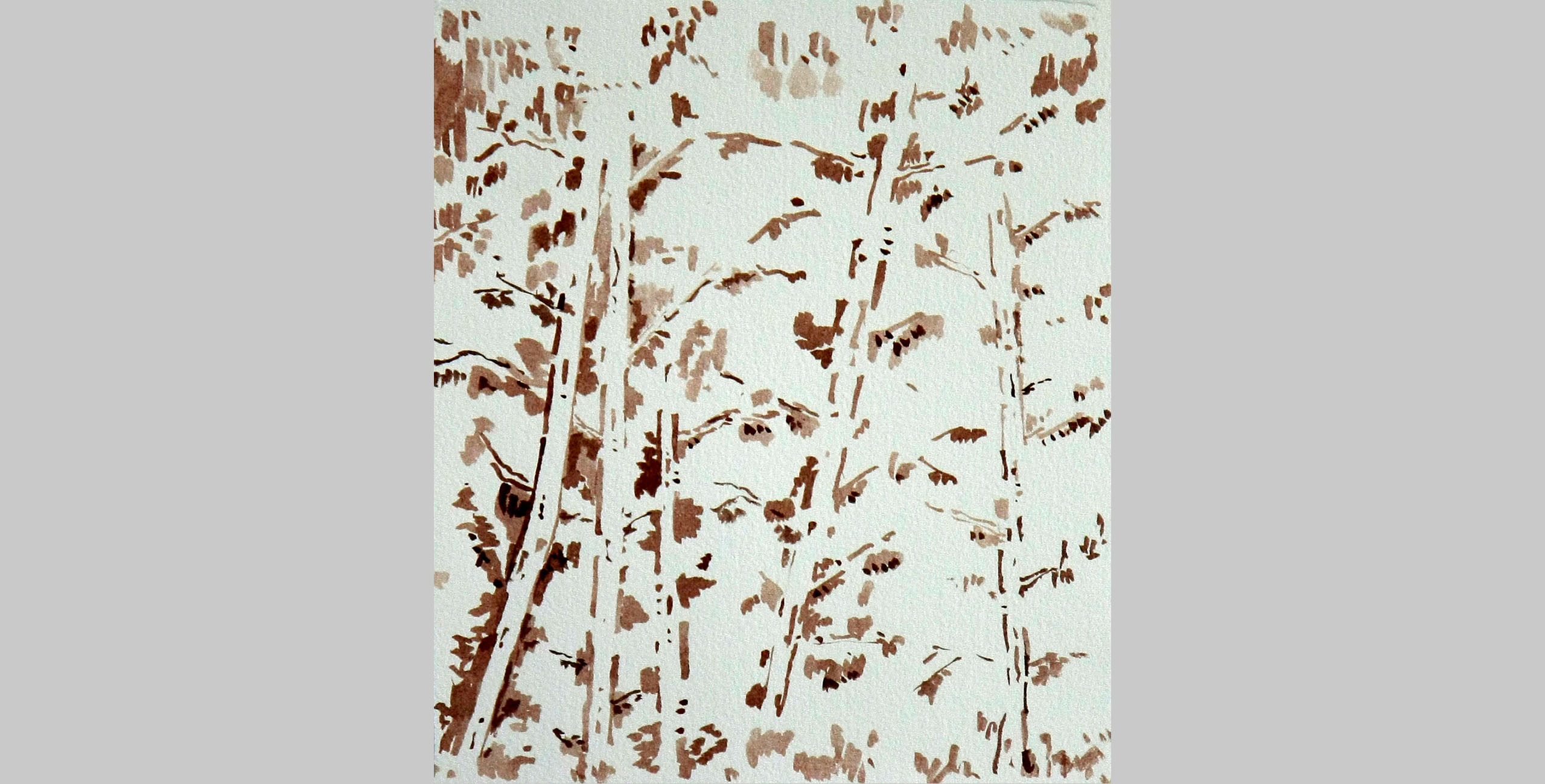 Trees, 2011, ink on paper