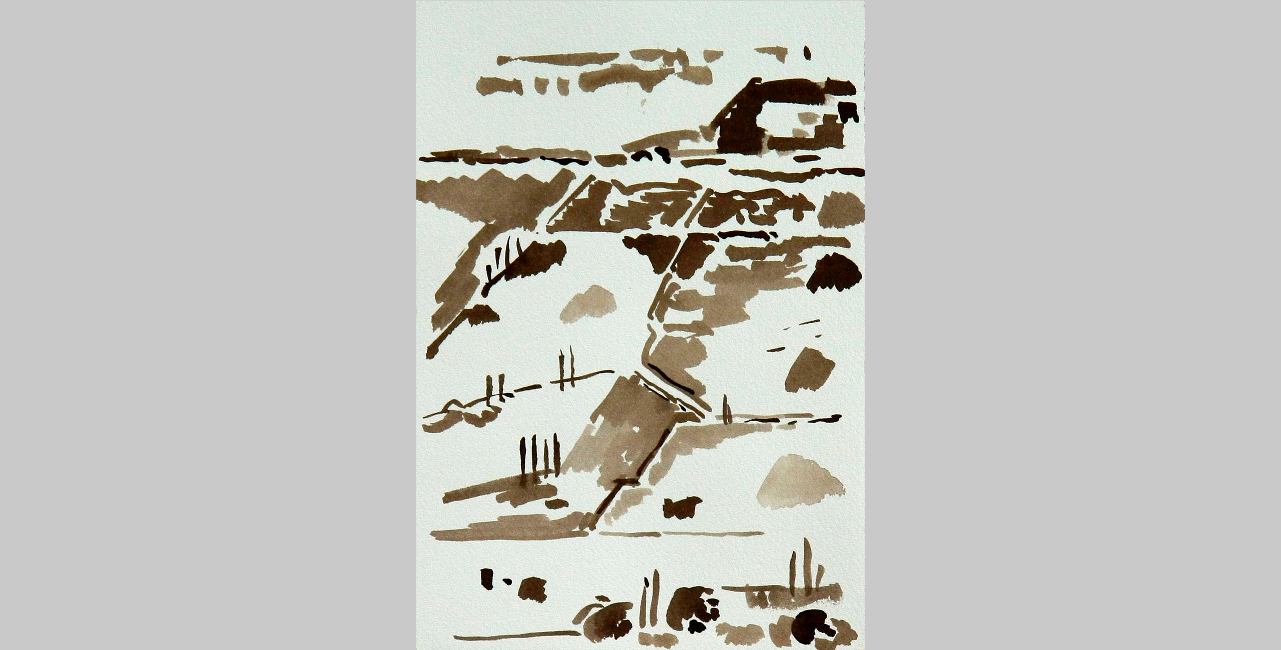 Landscape 19, 2011, ink on paper