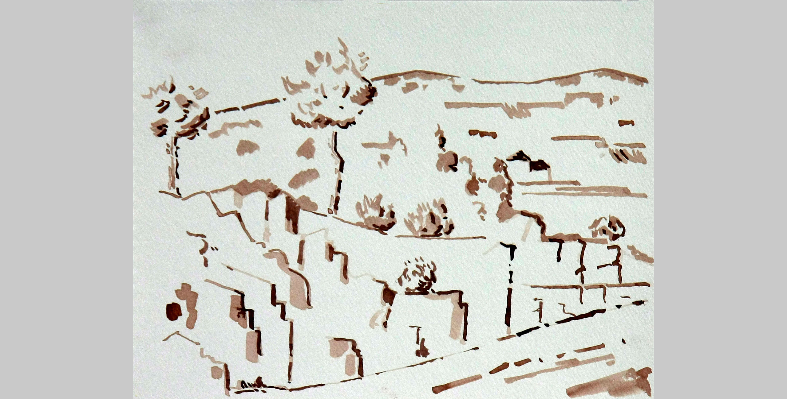 Landscape 20, 2011, ink on paper
