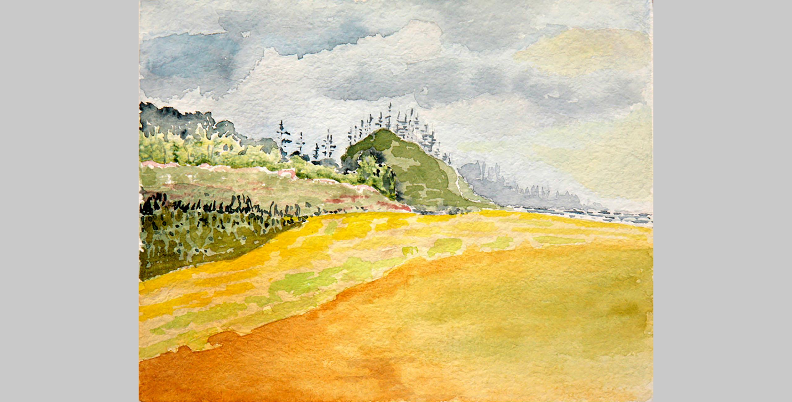 Grass Layers, 2008, watercolor